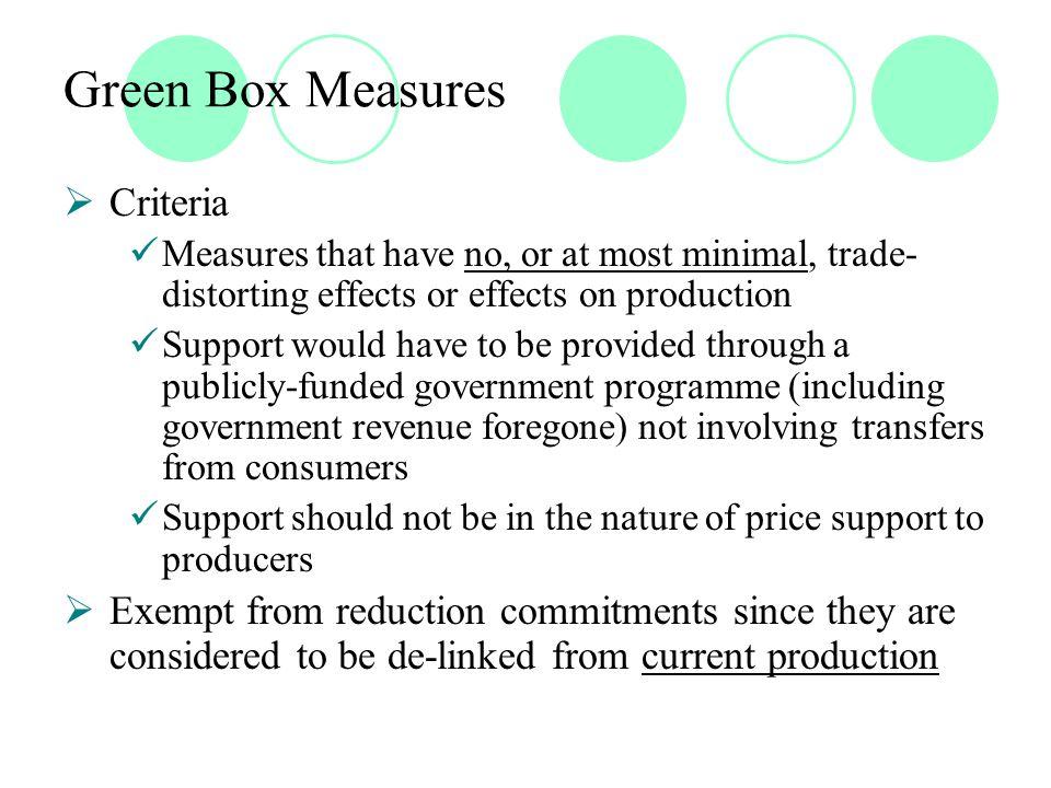 The Problem of Non Ad Valorem Tariffs  Percentage share of non-ad valorem (NAV) tariffs in total bound tariff lines in developed countries – US: 43%; EU: 45.8; Switzerland: 89%  Average bound tariffs of the EC Ad valorem – 8 % Ad valorem equivalents of NAVs – 40 %  High ad valorem equivalents of NAVs in the EC Bovine meat – 408 % Grape juice - 169% Rice in husk – 94 %