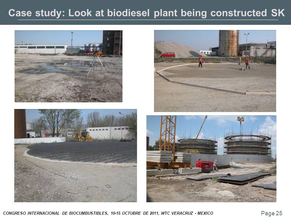 Page 25 CONGRESO INTERNACIONAL DE BIOCUMBUSTIBLES, 10-15 OCTUBRE DE 2011, WTC VERACRUZ - MEXICO Case study: Look at biodiesel plant being constructed SK