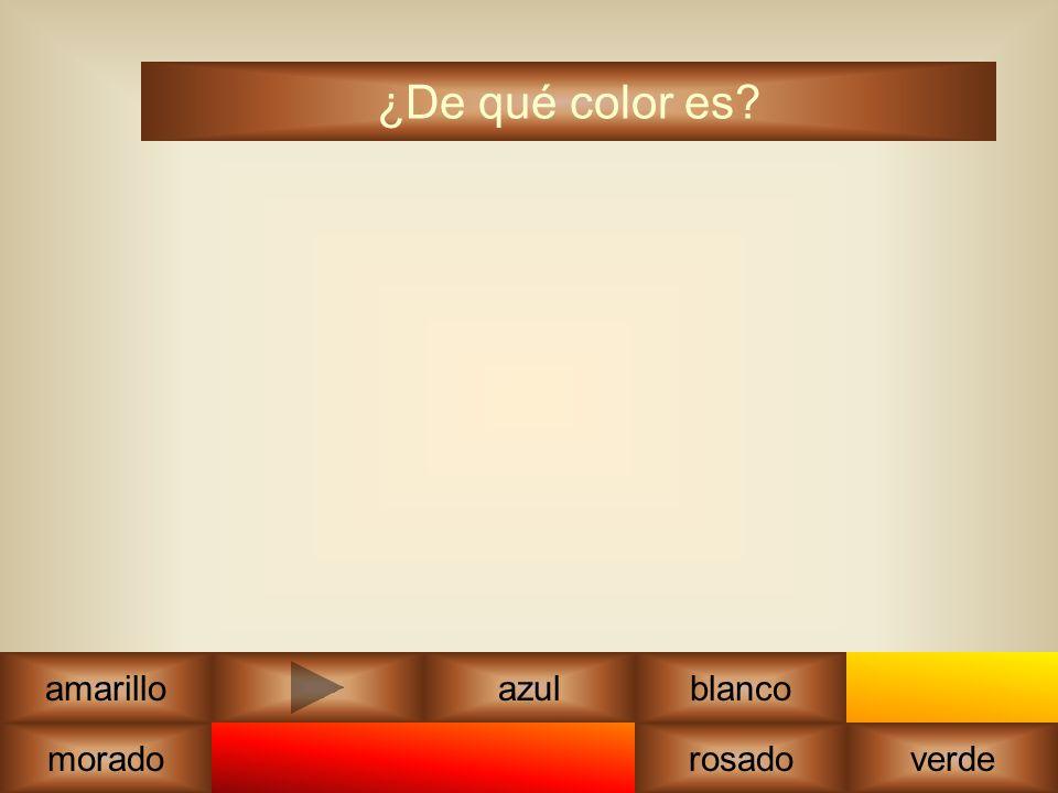 marrón ¿De qué color es amarilloazul rosadoverde blanco morado anaranjado