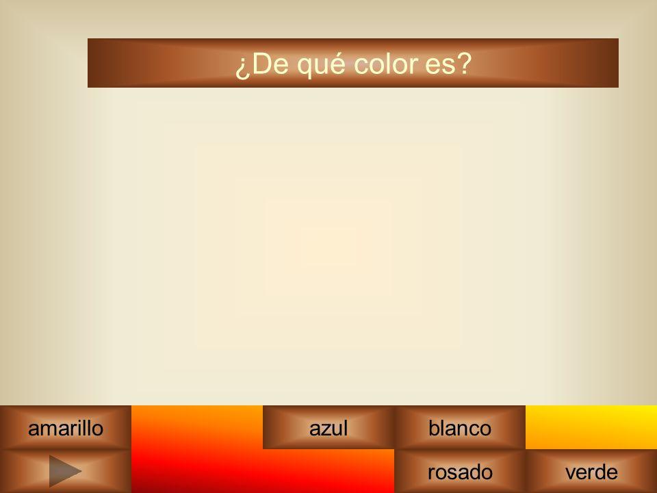 ¿De qué color es? amarilloazul rosadoverde blanco