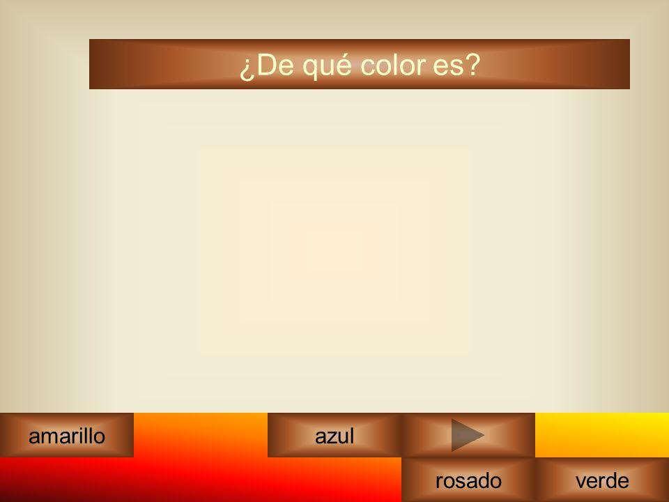 ¿De qué color es amarilloazul rosadoverde blanco
