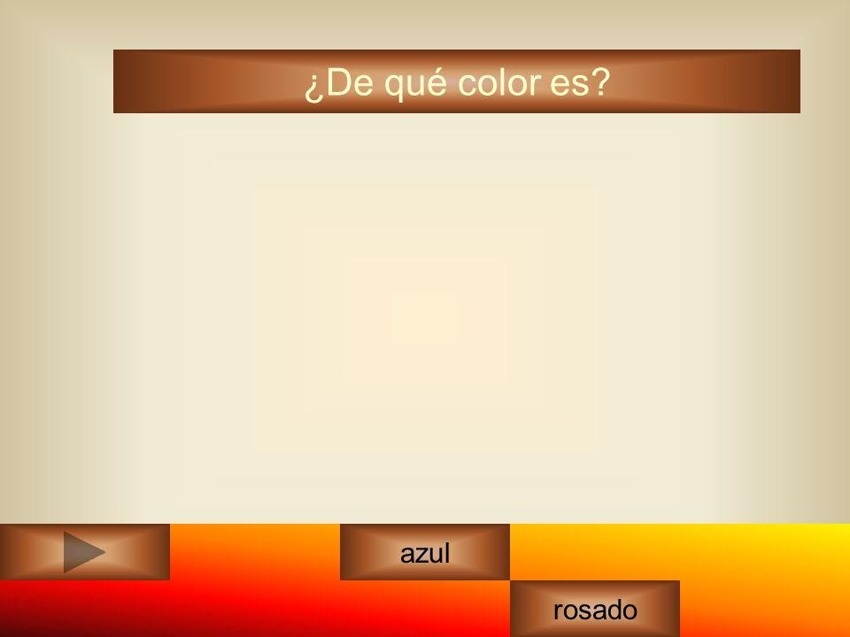 amarillo ¿De qué color es? azul rosado