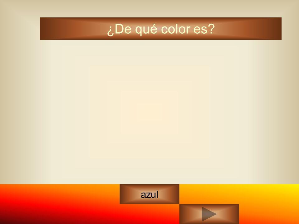 ¿De qué color es? azul