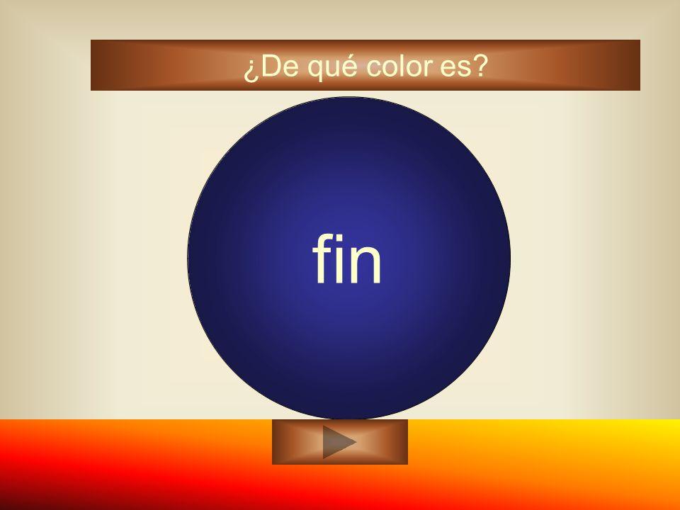 fin azul ¿De qué color es?