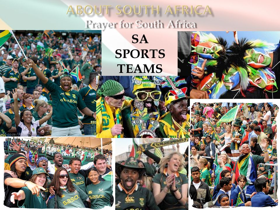 Prayer for South Africa SA SPORTS TEAMS