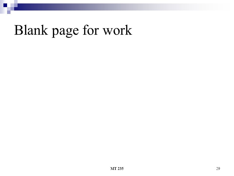 MT 23529 Blank page for work