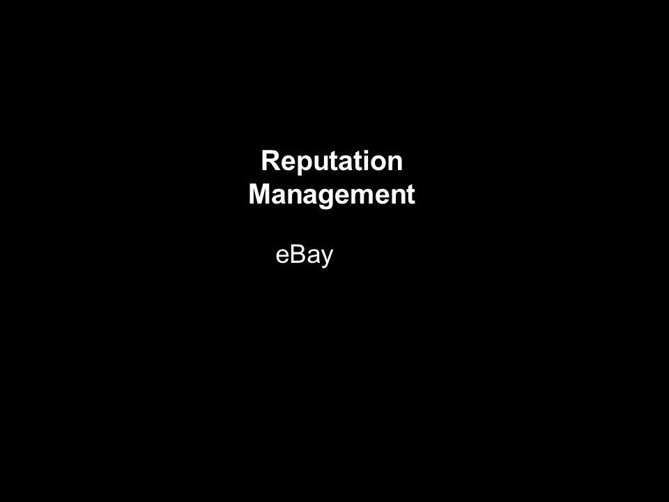 Reputation Management eBay