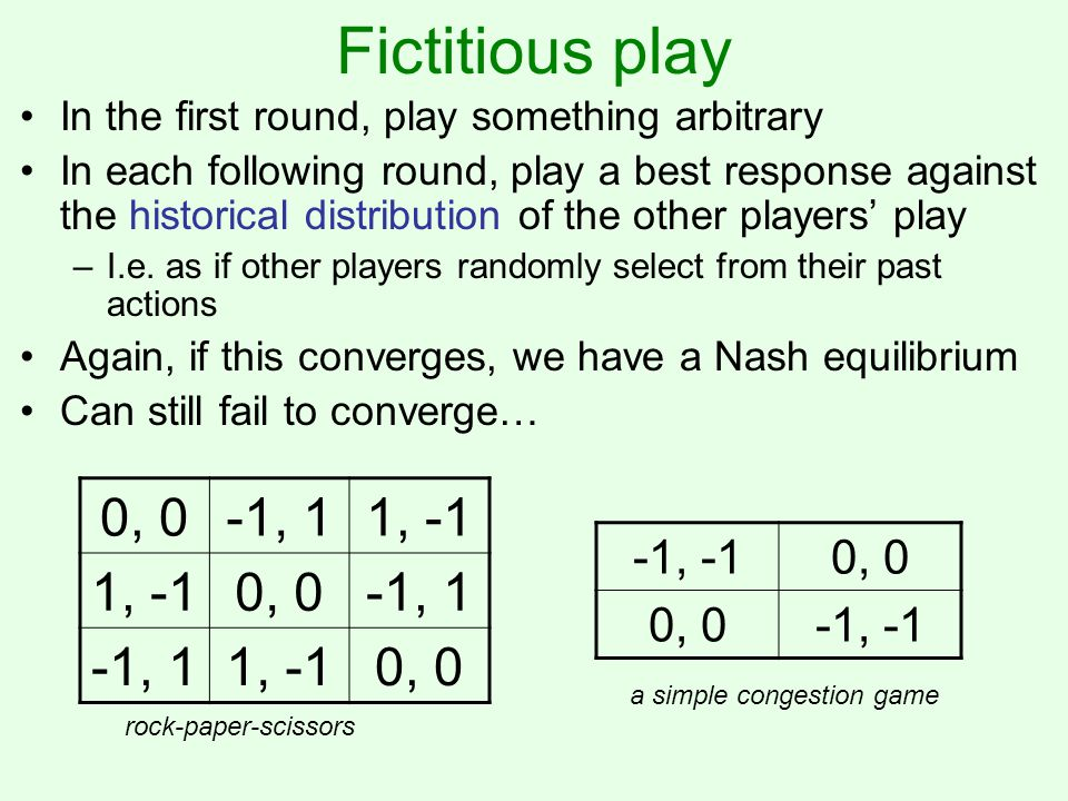 Does the historical distribution of play converge to equilibrium.