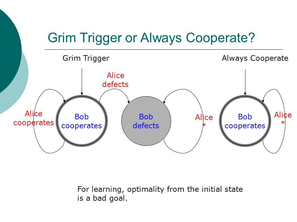 Grim Trigger or Always Cooperate.