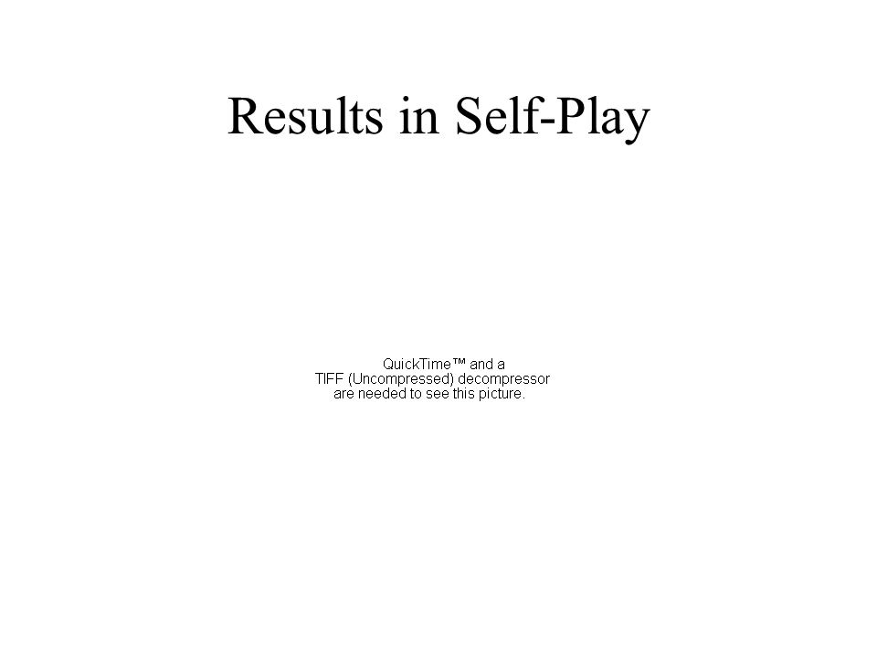 Results in Self-Play