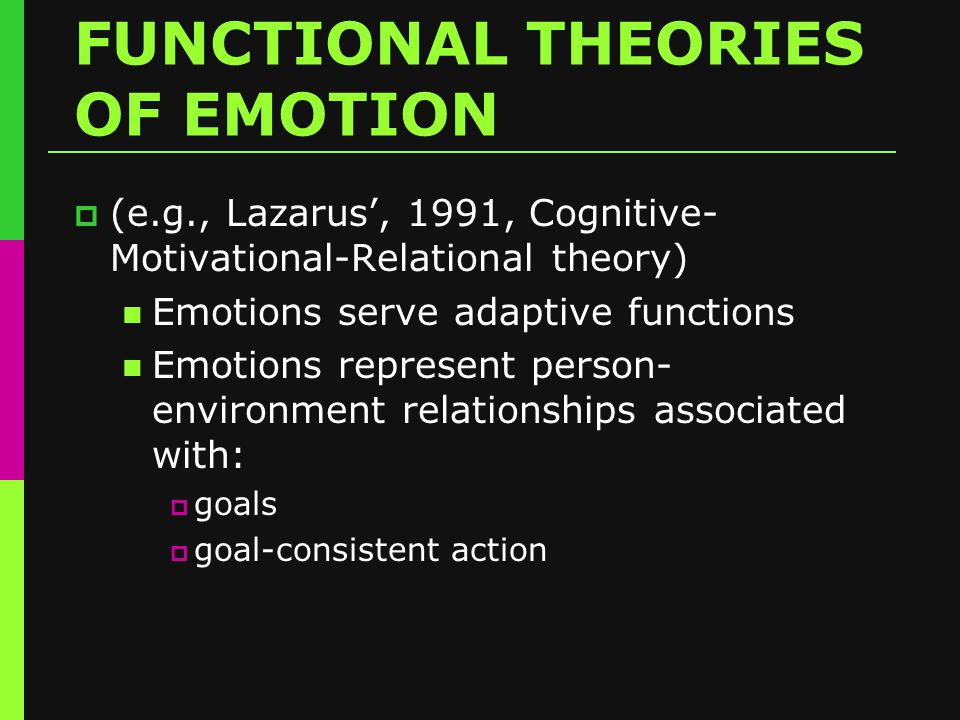 EMOTION THEMES & MOTIVATIONS TO ACT