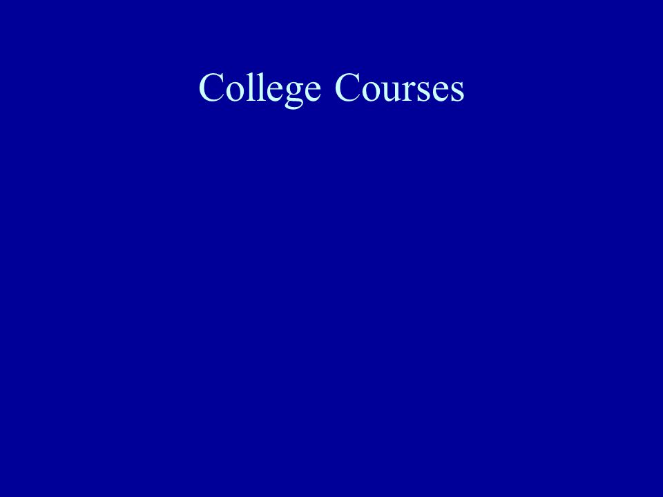 College Courses