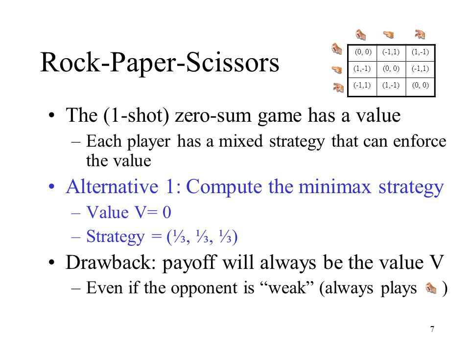 48 Motivation Dual view of p: –p i is the probability of selecting action i –p i is the probability of selecting algo.