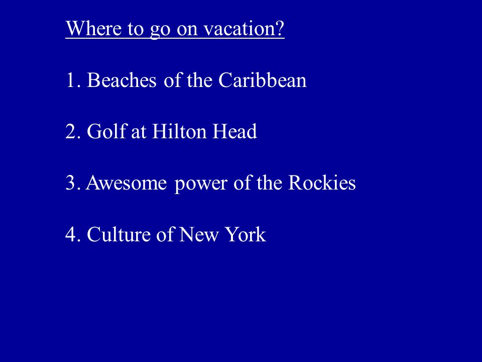 Where to go on vacation. 1. Beaches of the Caribbean 2.