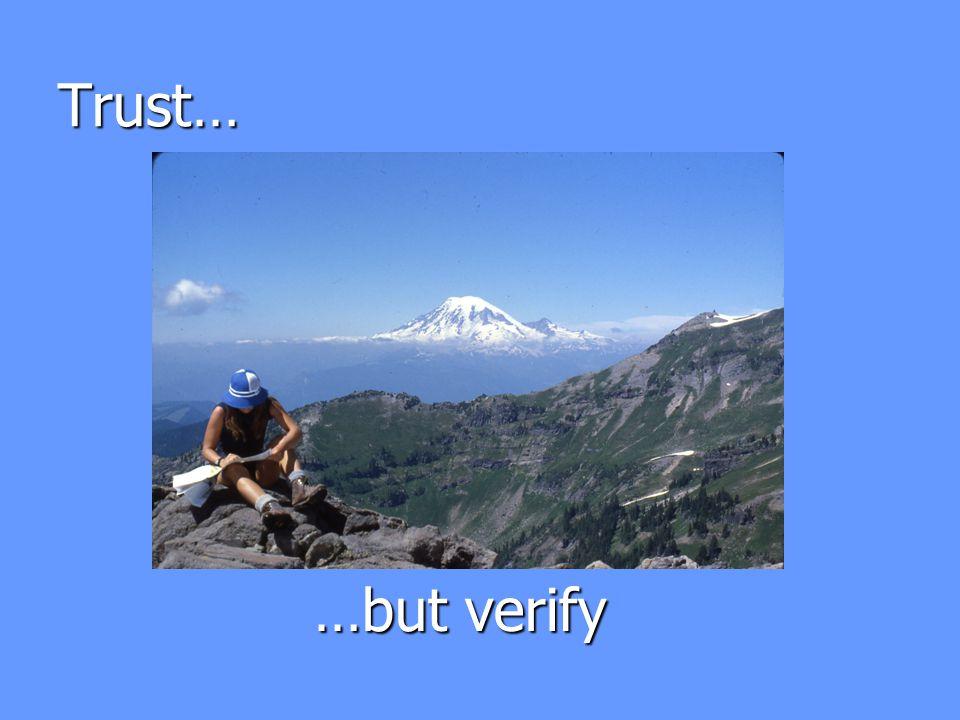 Trust… …but verify
