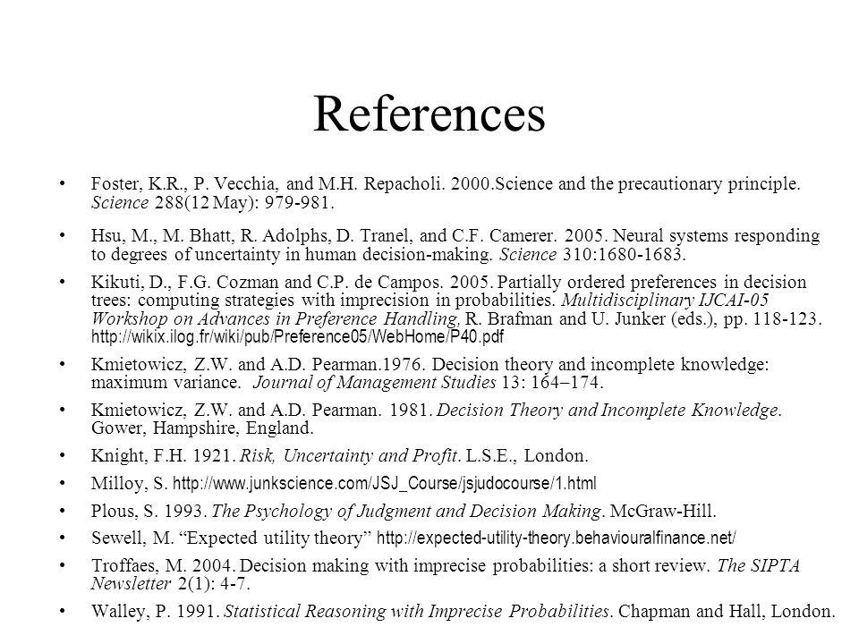 References Foster, K.R., P.Vecchia, and M.H. Repacholi.