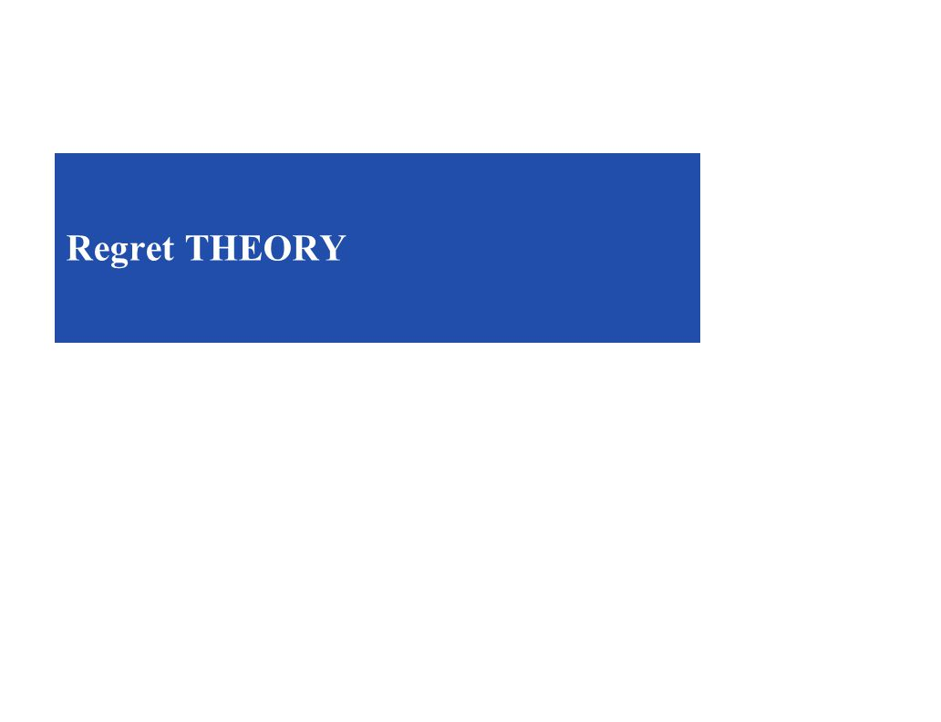 Regret THEORY
