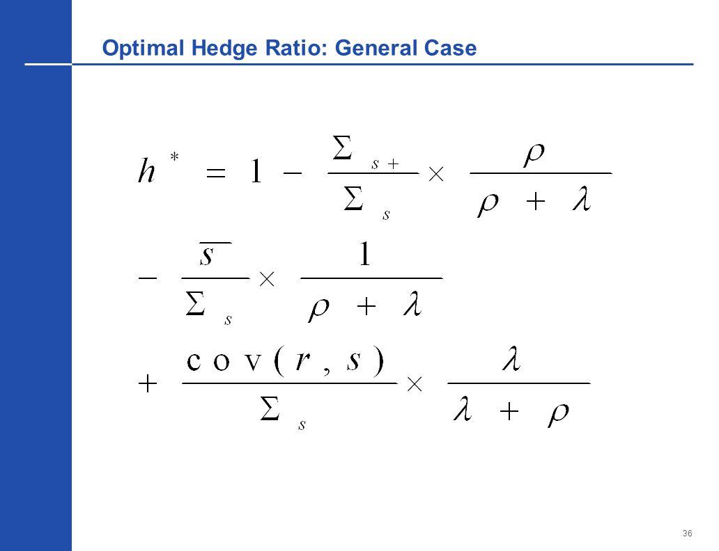 36 Optimal Hedge Ratio: General Case