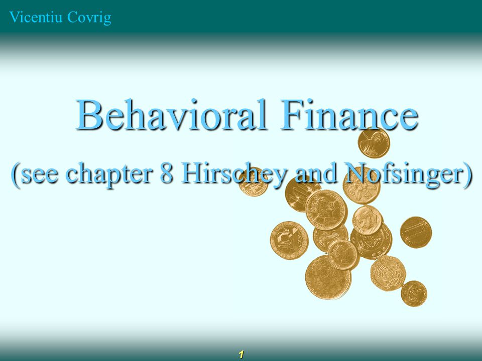 Vicentiu Covrig 2 Behavioral Finance vs Standard Finance Behavioral finance considers how cognitive errors and emotions affect financial decision makers Behavioral finance (positive approach) recognizes that the standard finance model of rational behavior (normative approach) can be true within specific boundaries but argues that this model is incomplete since it does not consider the individual behavior.