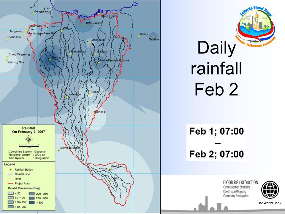 Daily rainfall Feb 2 Feb 1; 07:00 – Feb 2; 07:00 The World Bank