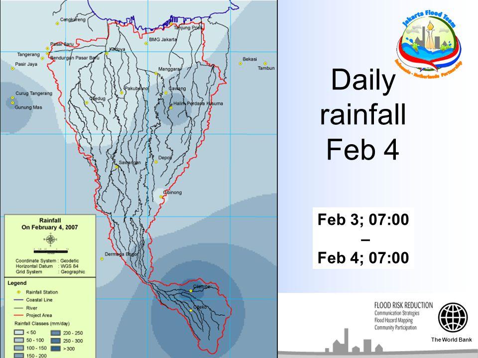 Daily rainfall Feb 4 Feb 3; 07:00 – Feb 4; 07:00 The World Bank