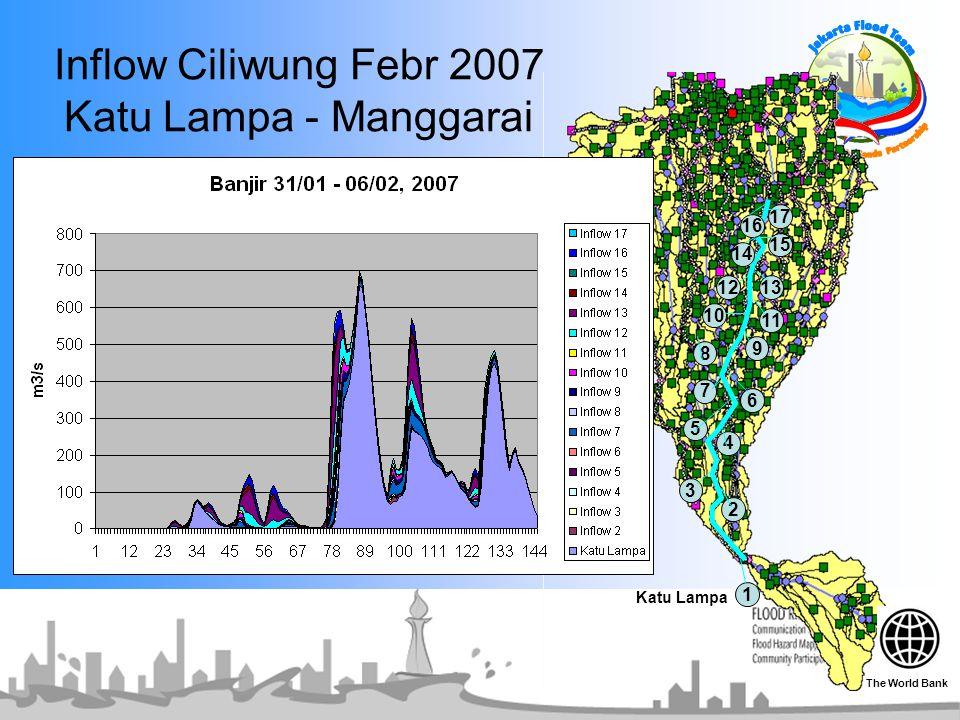 Inflow Ciliwung Febr 2007 Katu Lampa - Manggarai 1 2 3 5 6 7 8 9 10 1312 14 15 11 16 4 17 6 Katu Lampa The World Bank