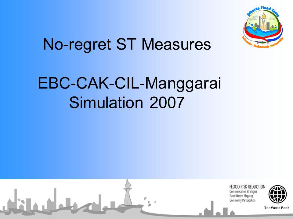 No-regret ST Measures EBC-CAK-CIL-Manggarai Simulation 2007 The World Bank