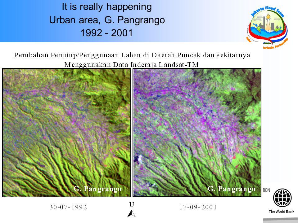 It is really happening Urban area, G. Pangrango 1992 - 2001 The World Bank