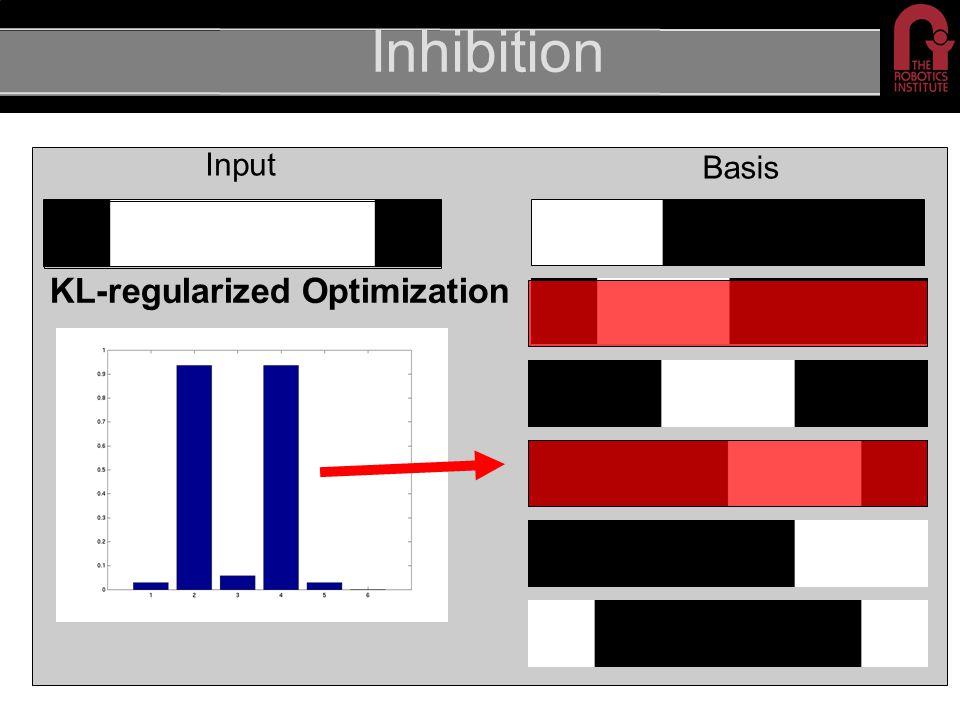 Inhibition Input Basis KL-regularized Optimization