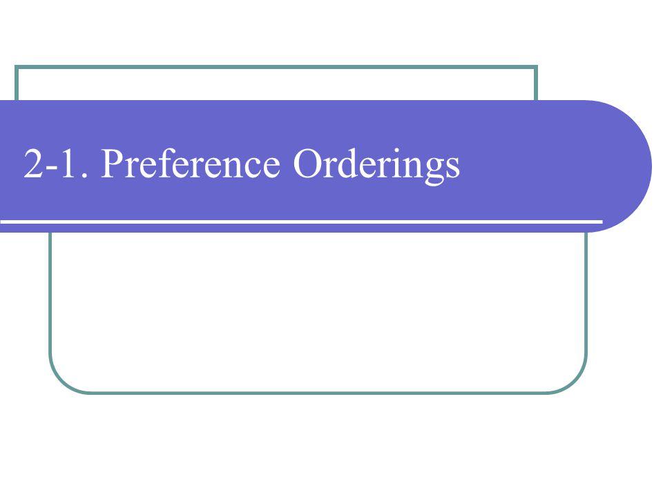 2-1. Preference Orderings