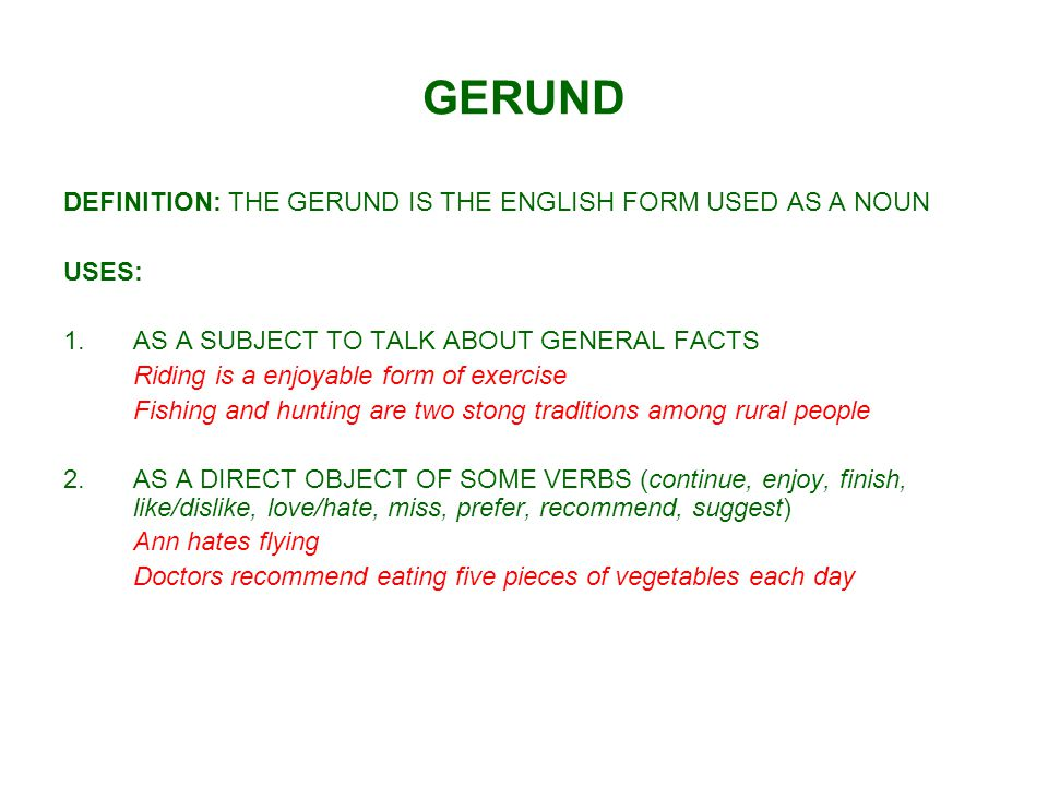 GERUND USES: 3.AFTER PREPOSITIONS Are you interested in working for us.
