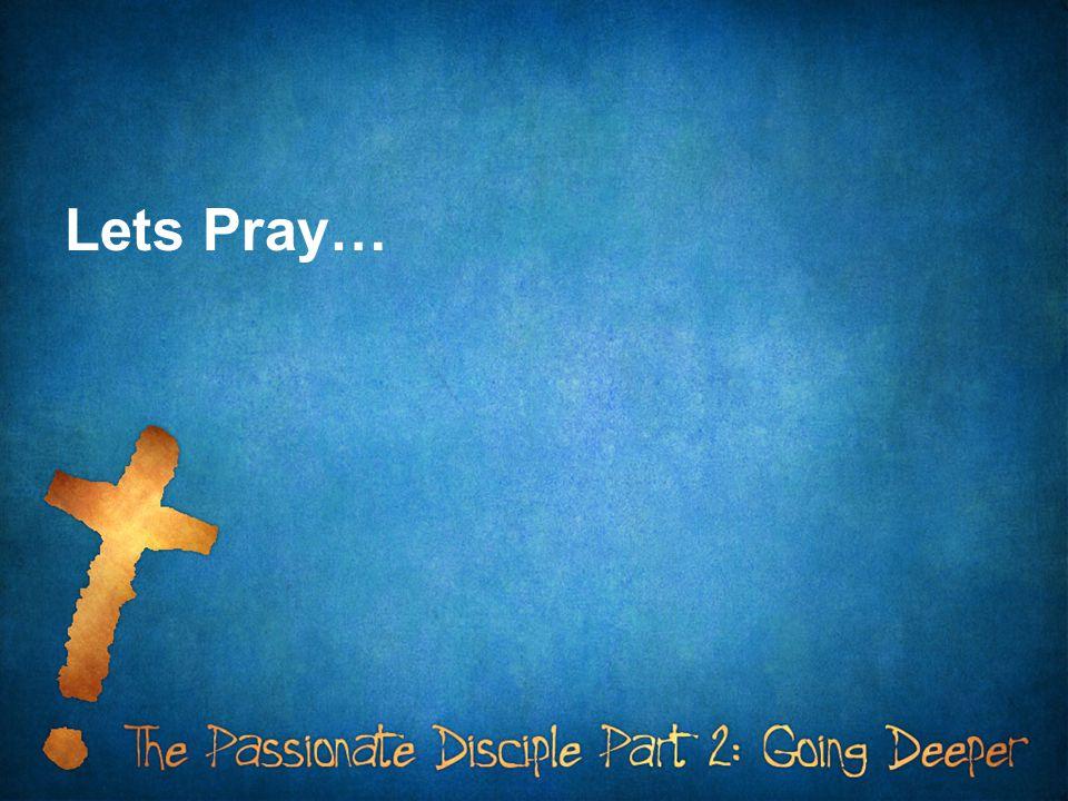 Lets Pray…