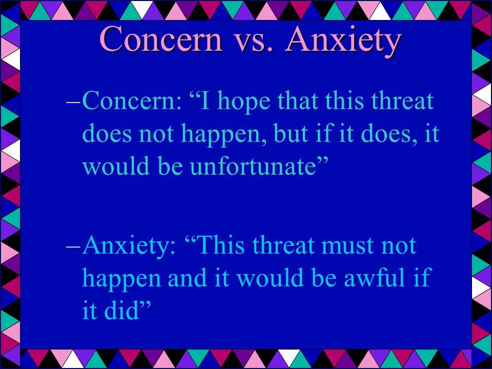 Concern vs.