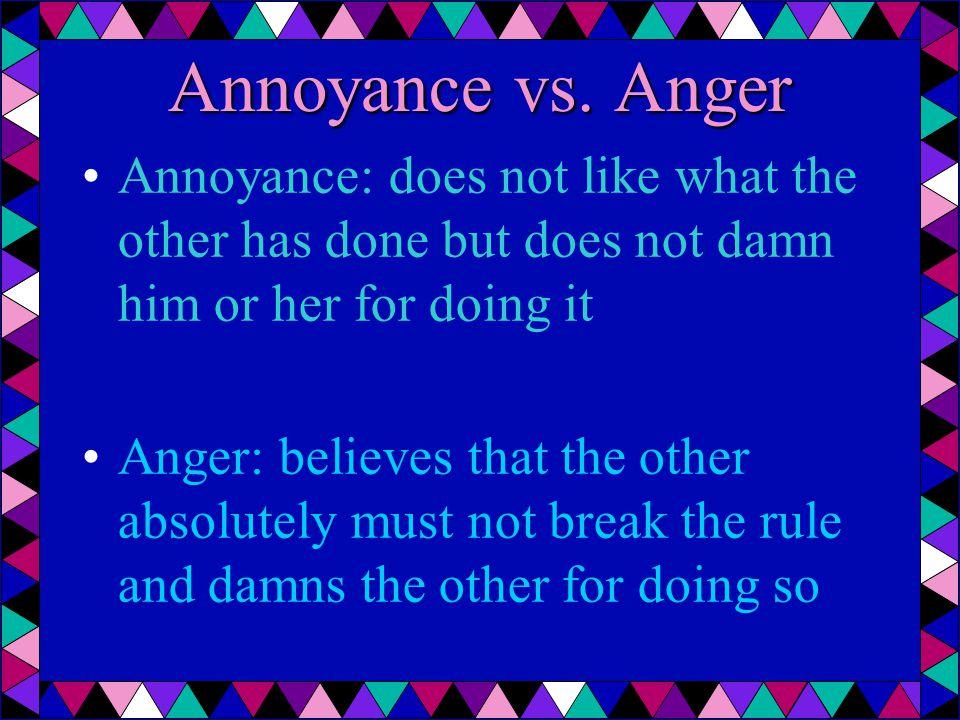 Annoyance vs.