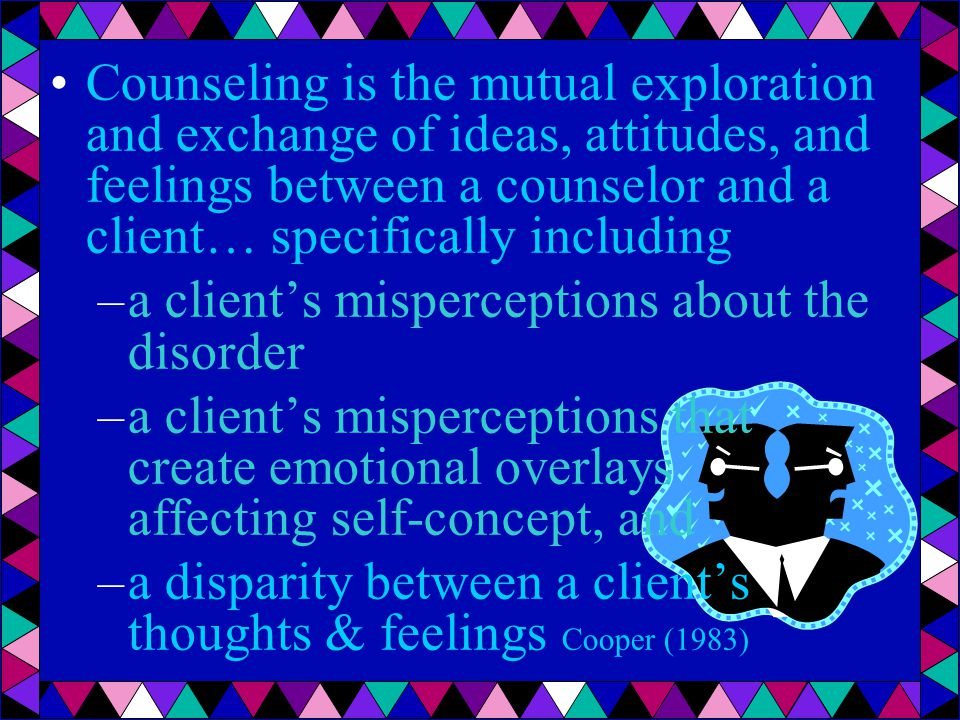 realistic expectations less embarrassment, guilt, shame acceptance of the problem sense of ownership & humor Attitudinal changes likely to result in a reduced severity of stuttering