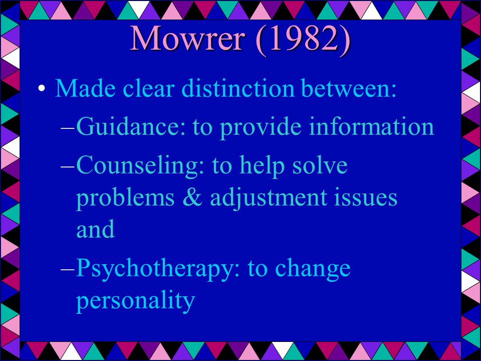 Emerick (1988) Divided counseling approaches for stuttering therapy into 3 categories –approaches that focused on changing speech behavior, with the assumption that feelings and attitudes would improve as stuttering decreased –approaches that focused on changing speech behavior, negative emotions, and maladaptive attitudes –approaches that focused only on negative & maladaptive attitudes & ignored the behavior associated with speech
