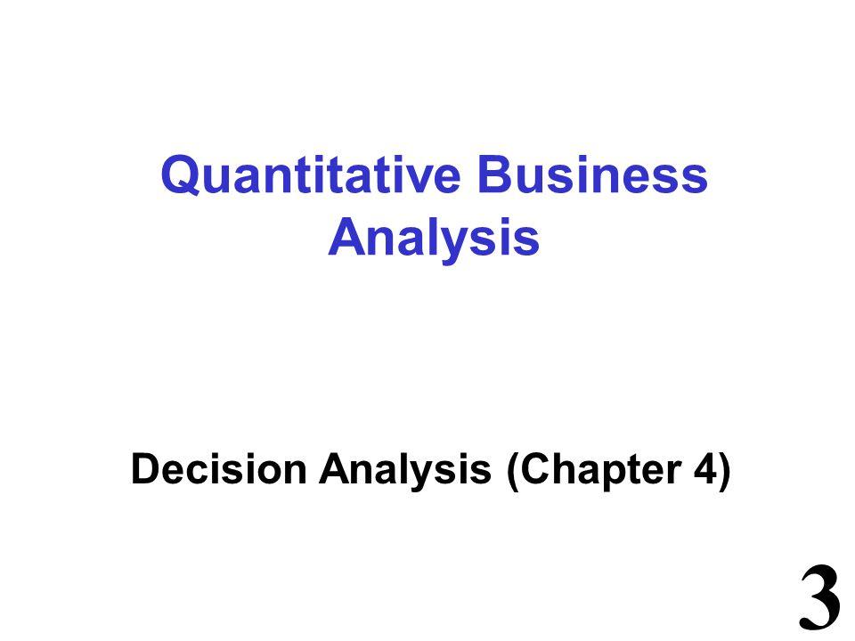 4 Chapter Topics Problem Formulation Decision Making without Probabilities Decision Making with Probabilities Decision Analysis with Sample Information