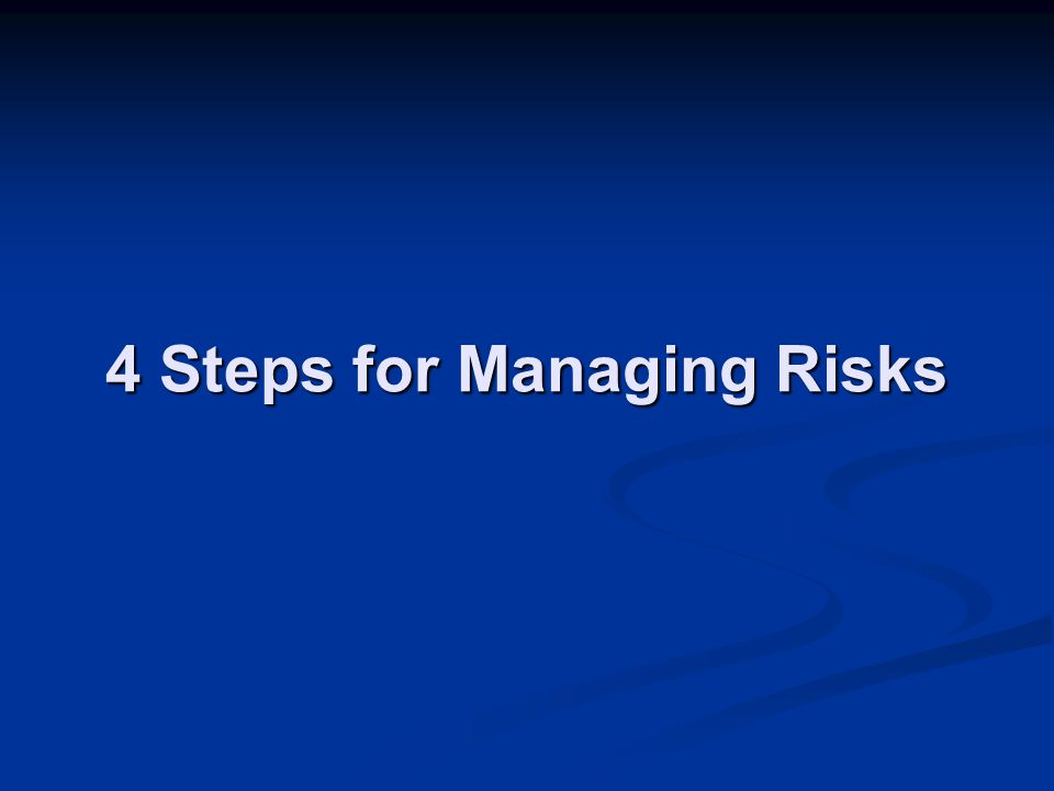 4 Steps for Managing Risks