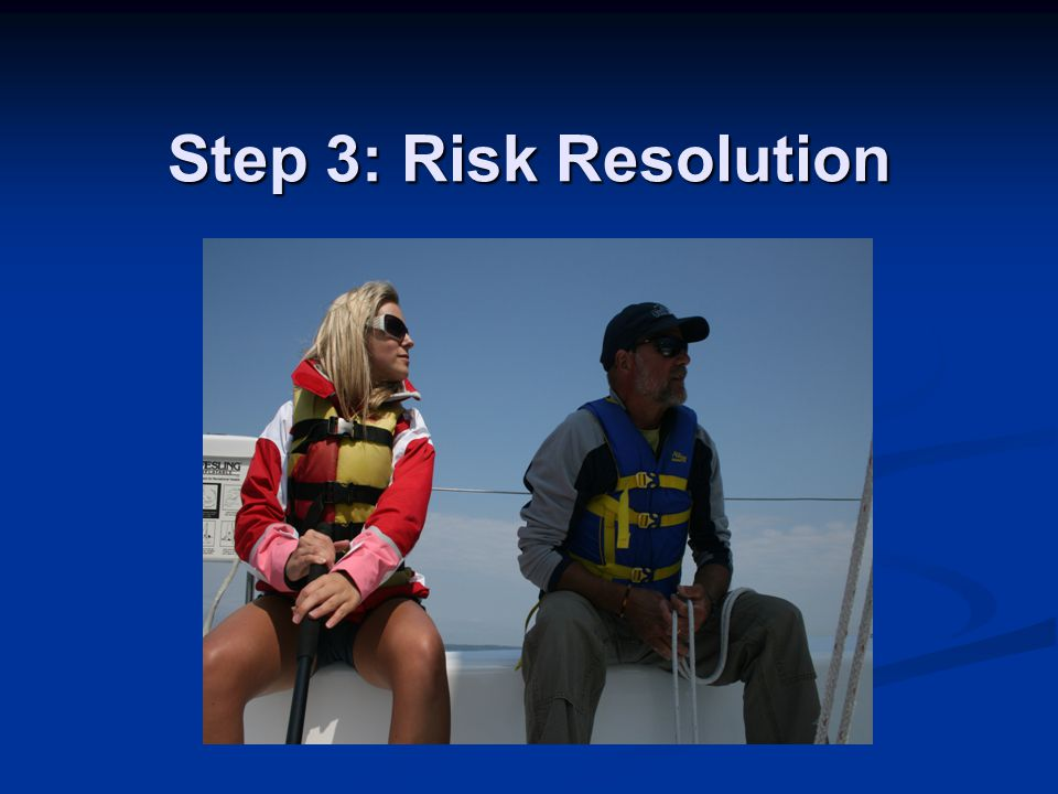 Step 3: Risk Resolution