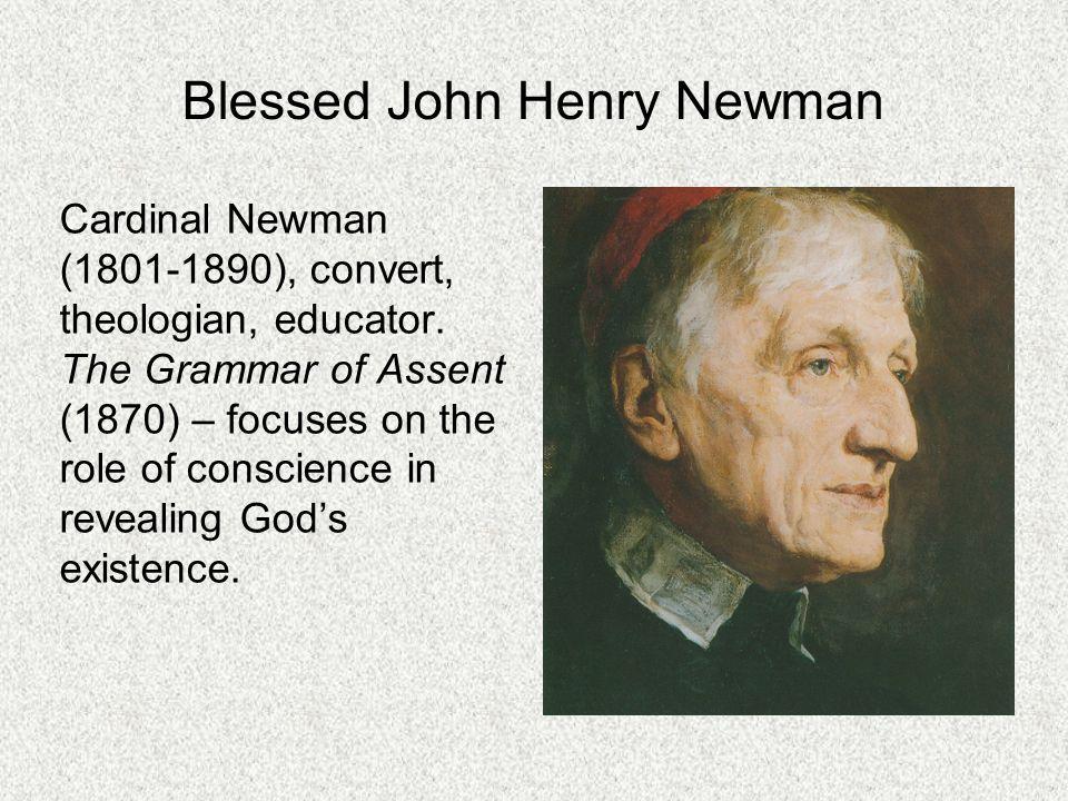 Blessed John Henry Newman Cardinal Newman (1801-1890), convert, theologian, educator.