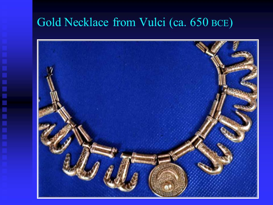 Gold Necklace from Vulci (ca. 650 BCE )