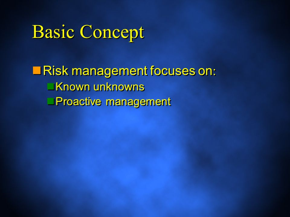 The alternative to proactive management is reactive management, also called crisis management.