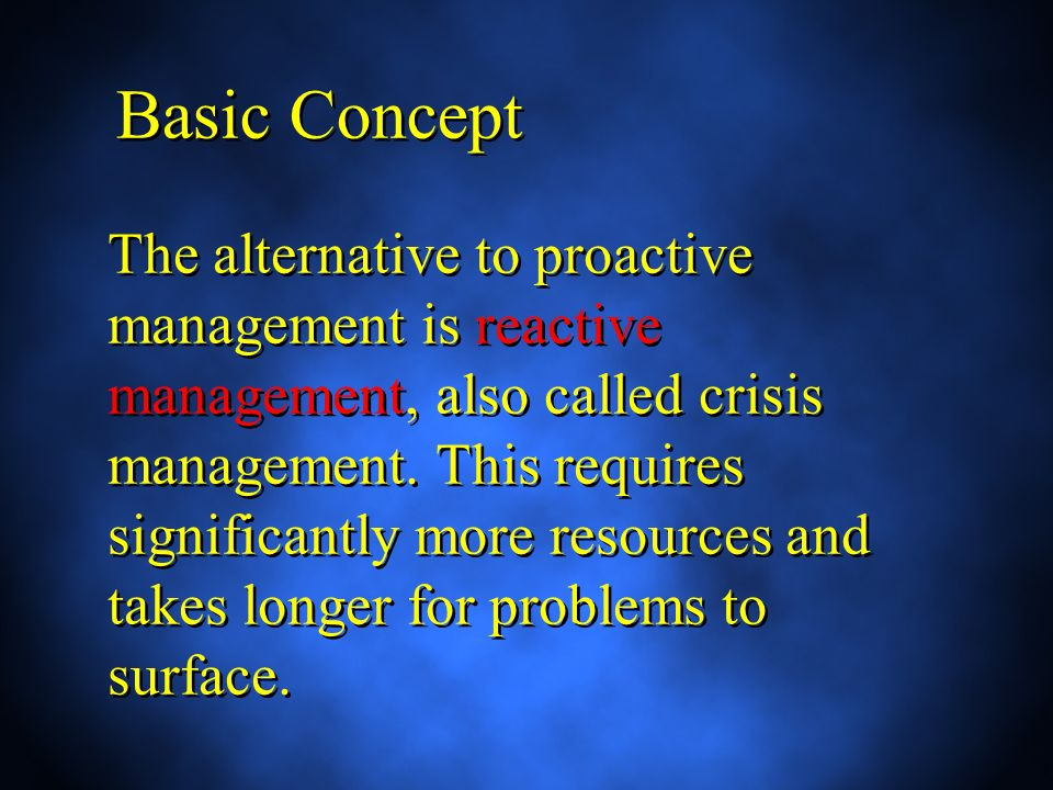 Risk Management Risk management focuses on the future Risk and information are inversely related Risk management focuses on the future Risk and information are inversely related