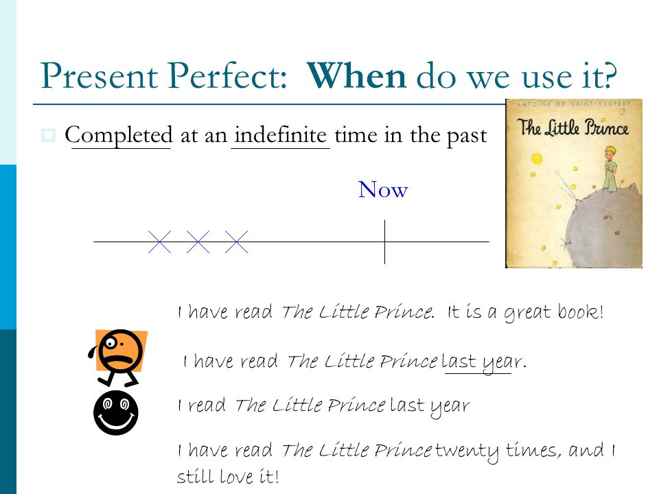 Present Perfect: When do we use it.