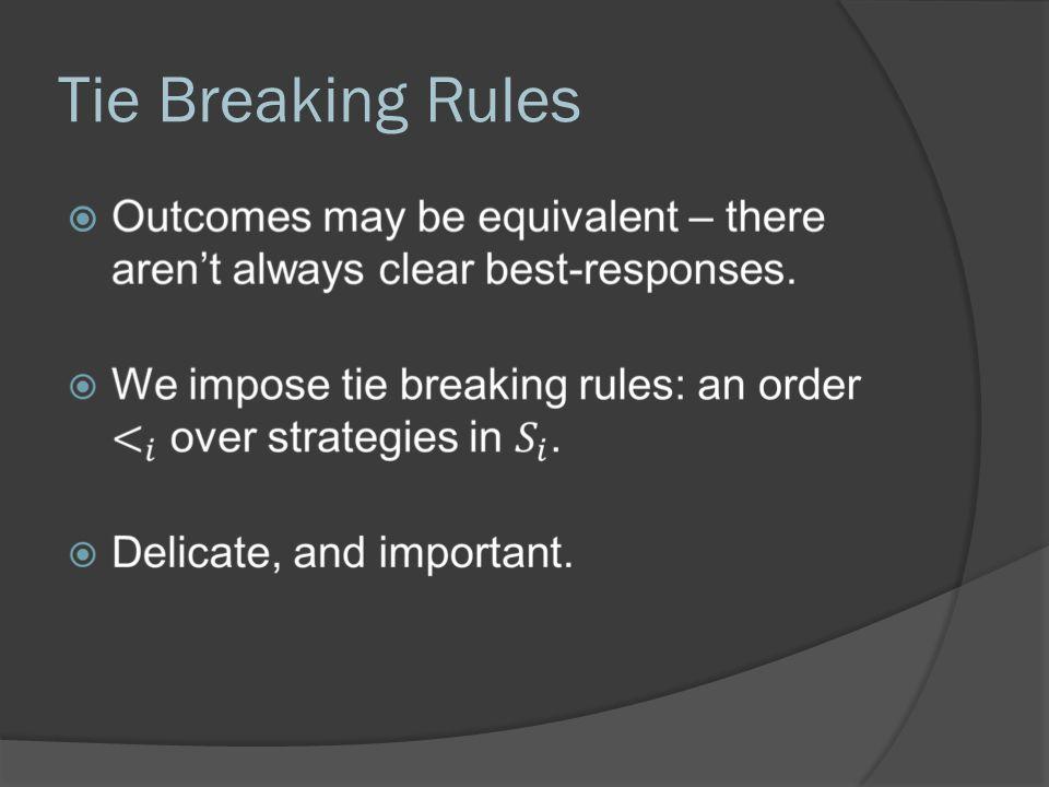 Tie Breaking Rules 