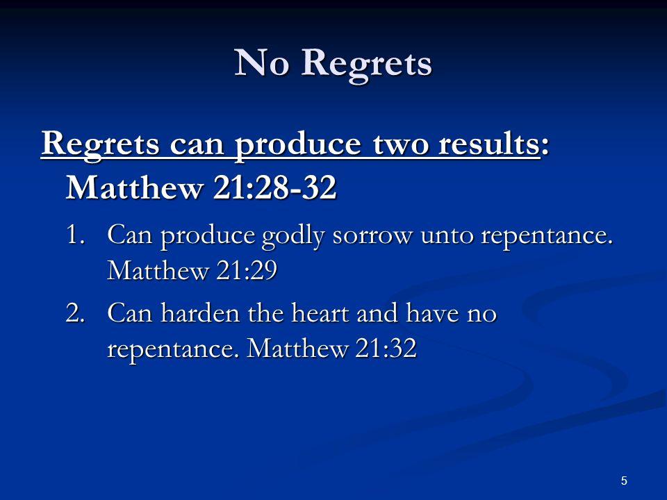 We Ought To Regret Past sins.Judas. Matthew 27:3-5 Judas.