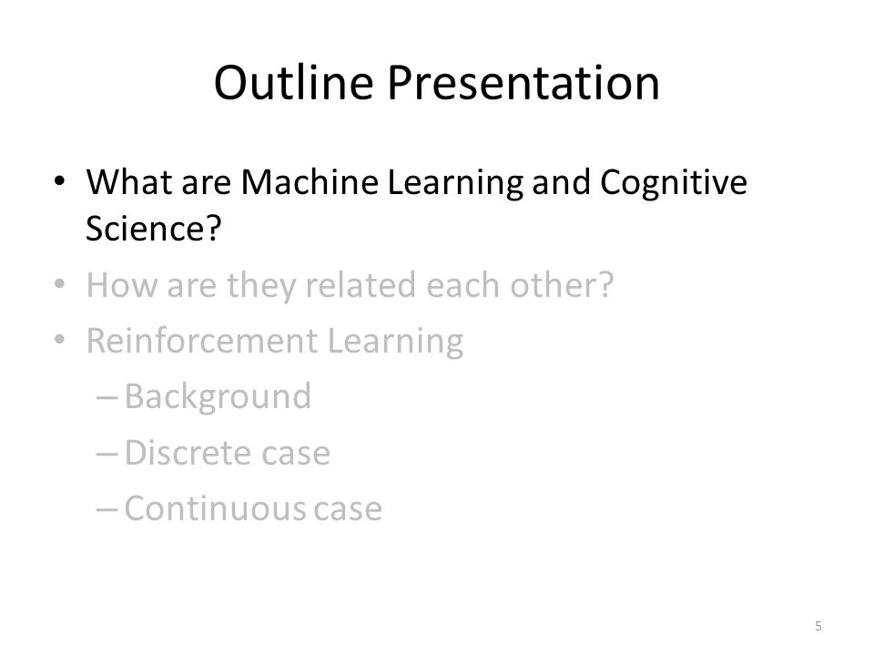 What is Machine Learning (ML).