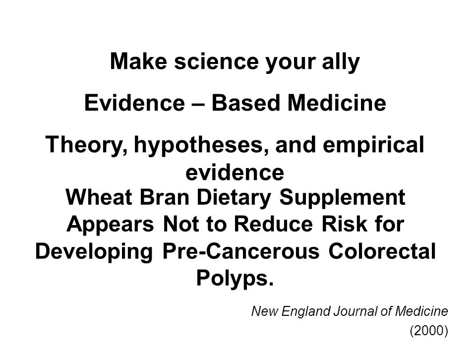 Wheat Bran Dietary Supplement Appears Not to Reduce Risk for Developing Pre-Cancerous Colorectal Polyps.