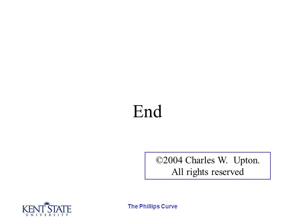The Phillips Curve End ©2004 Charles W. Upton. All rights reserved