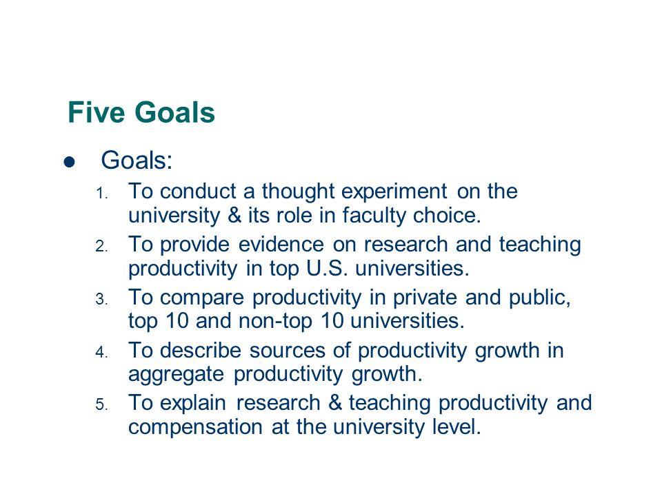 2 Five Goals Goals: 1.